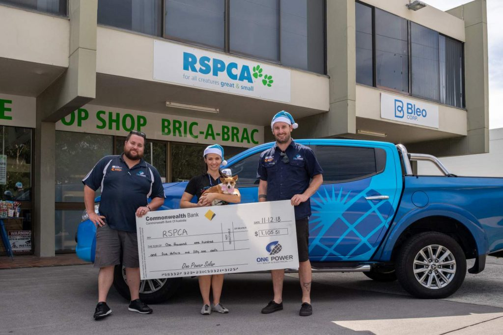 One Power Solar donating to the RSPCA
